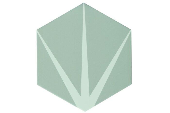 Star grey hexagon tile swatch