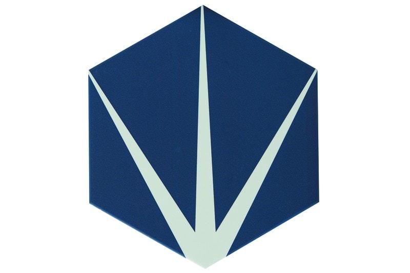 Star navy hexagon tile swatch