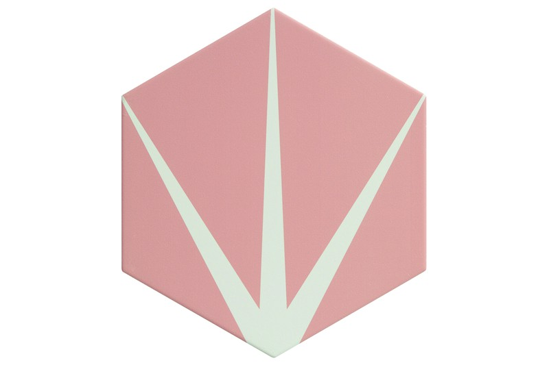 Star pink hexagon tile swatch