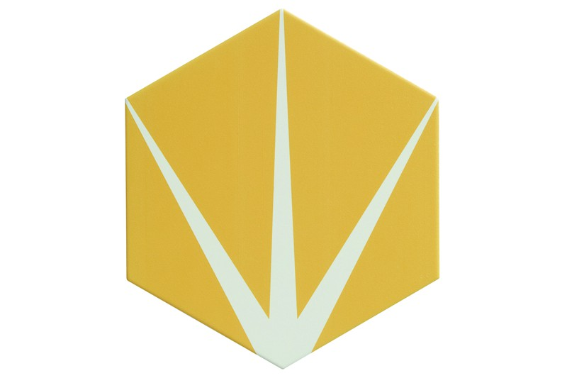 Star yellow hexagon tile swatch
