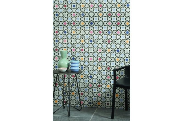 In situation multi colour tile