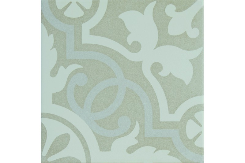 delicate muted blue and grey decorative tile swatch