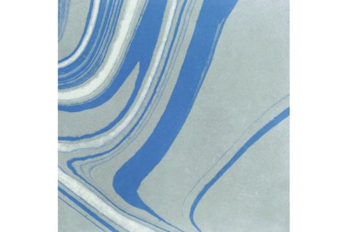 Blue marbled tile swatch