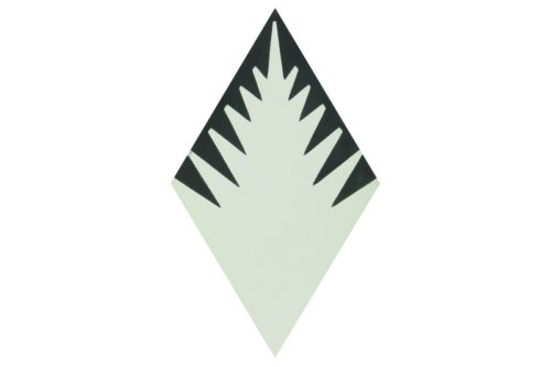 Fern style diamond shaped cream tile swatch