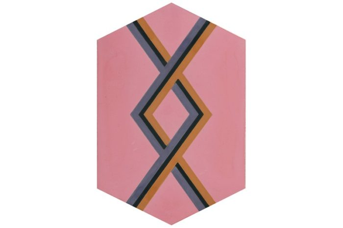 Hexagon with woven style pink swatch