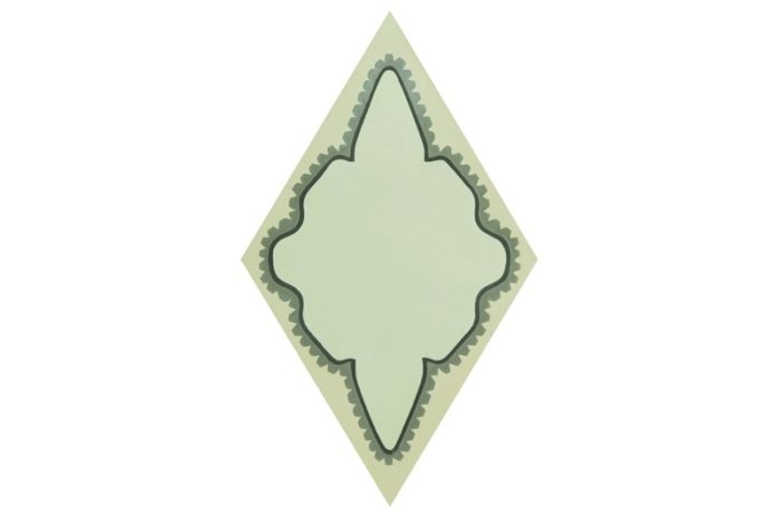 Diamond shaped tile grey in colour swatch