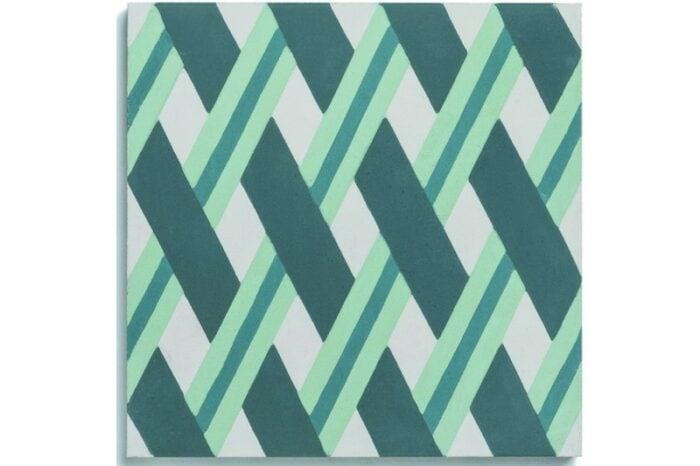 Crisscross woven tile blue swatch