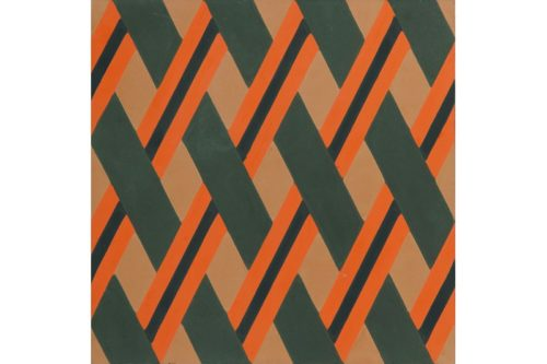 Crisscross woven tile orange swatch