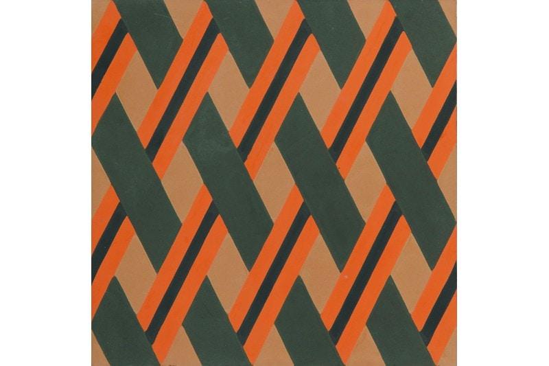 Crisscross woven tile orange swatch