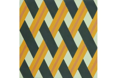 Crisscross woven tile yellow swatch