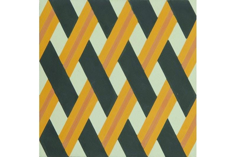 Crisscross woven tile yellow swatch