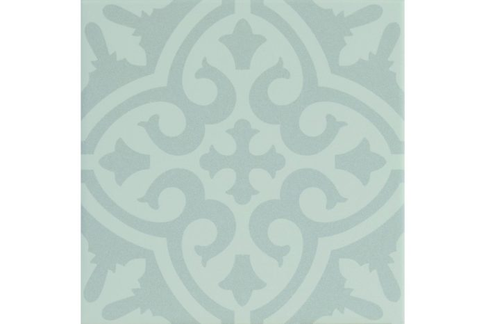 Muted grey decorative tile swatch