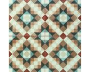 deco style etched tile swatch
