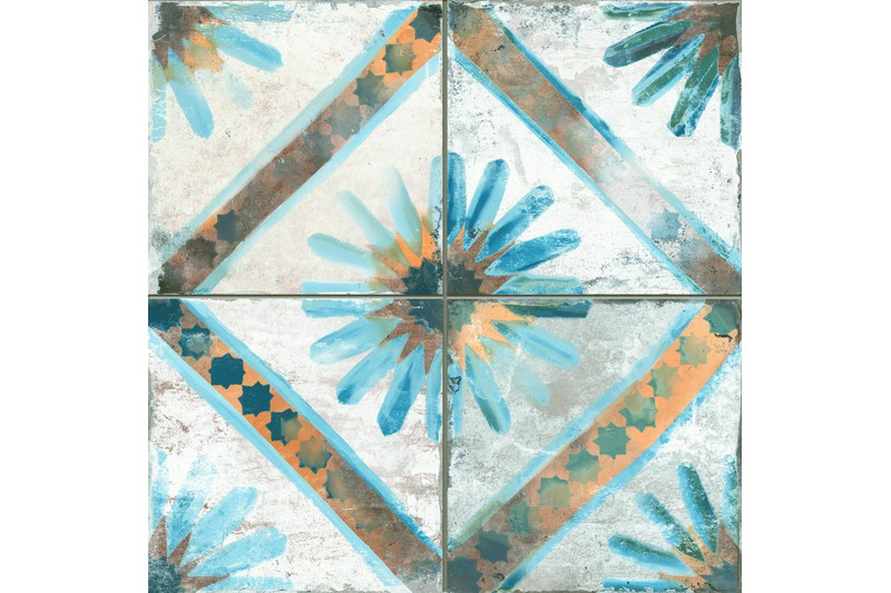 flower style etched ceramic swatch