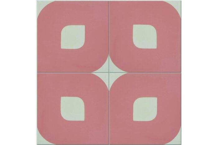 Eye design pink tile swatch