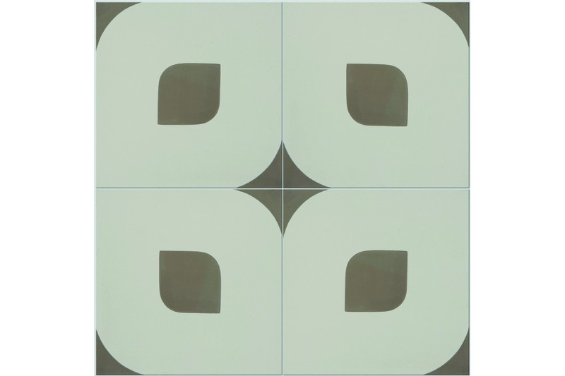 Eye design brown/white tile swatch