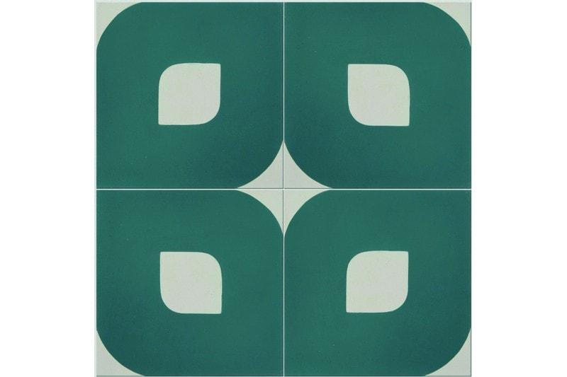 Eye design green tile swatch