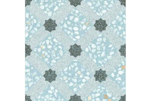 Speckled blue decor tile swatch