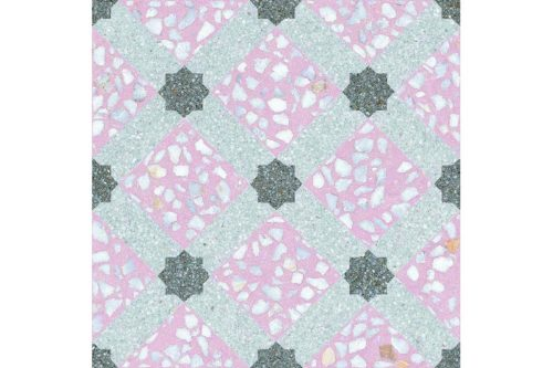 Speckled pink decor tile swatch