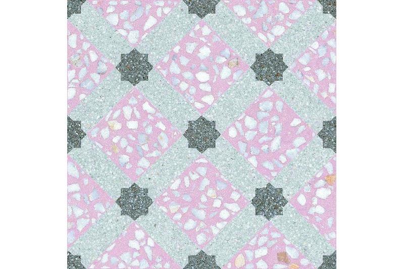 Speckled pink decor tile swatch