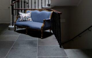 Dark Grey Limestone in a hall setting
