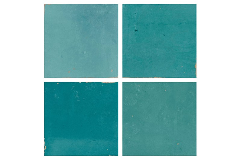 Blue square gloss tile swatch