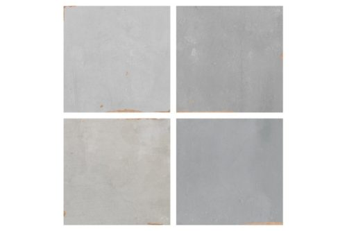 Grey and white square gloss tile swatch
