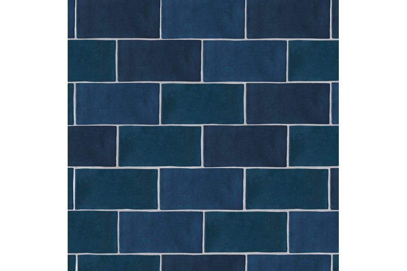 Blue metro gloss tile swatch