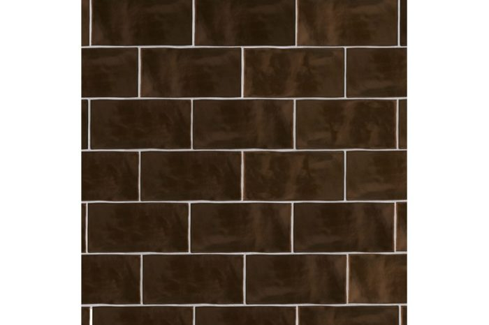 Copper metro gloss tile swatch