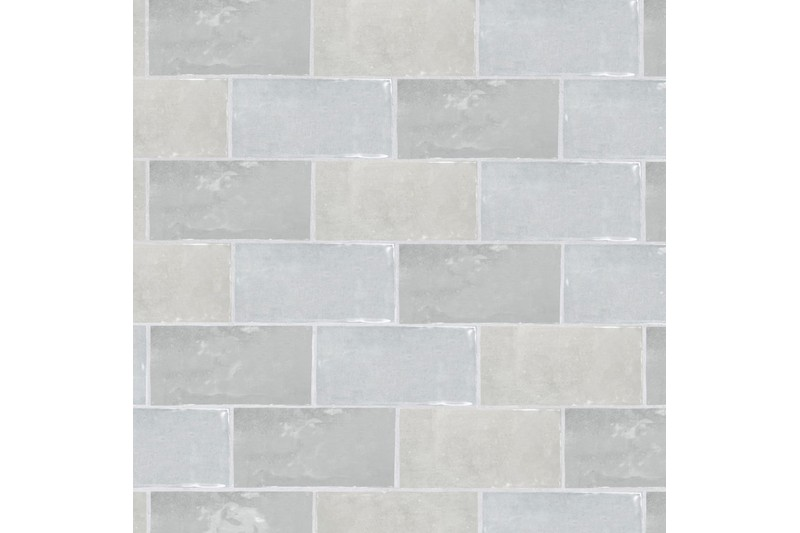 Grey metro gloss tile swatch