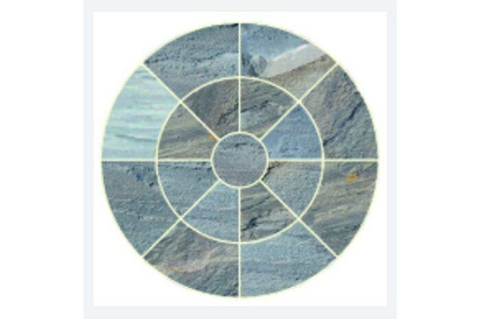 dark grey sandstone circle swatch