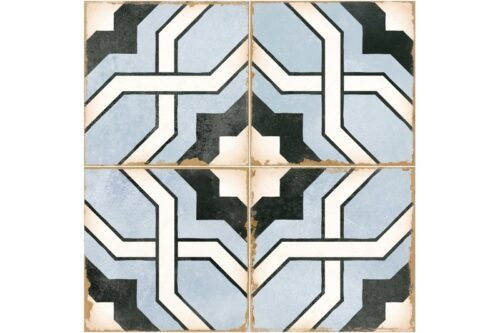 blue woven design decorative tile swatch
