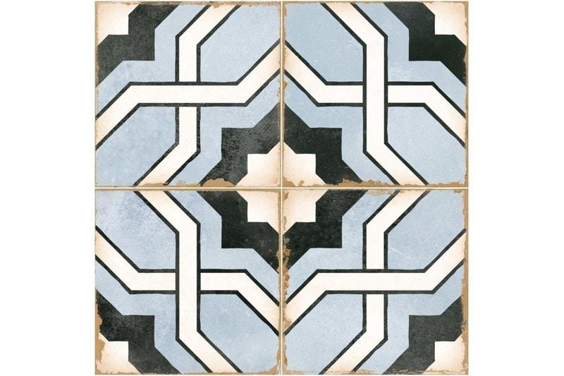 blue woven design decorative tile swatch