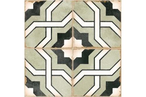 green woven design decorative tile swatch