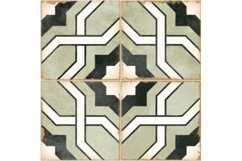 green woven design decorative tile swatch