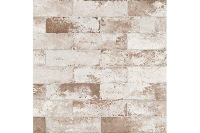 aged white brick tile swatch