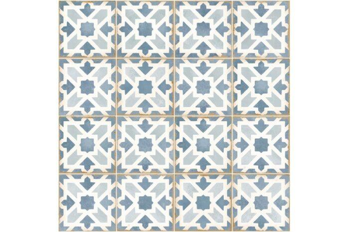 blue decorative tile swatch