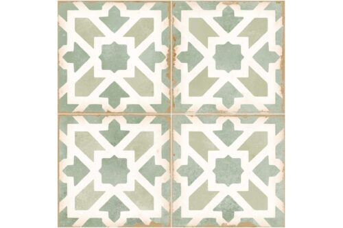 green decorative tile swatch