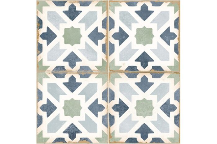 green and blue mix decorative tile swatch