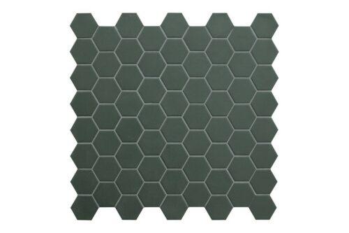 green hexagon mosaic swatch
