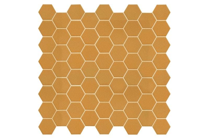 yellow hexagon mosaic swatch