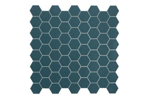 blue hexagon mosaic swatch