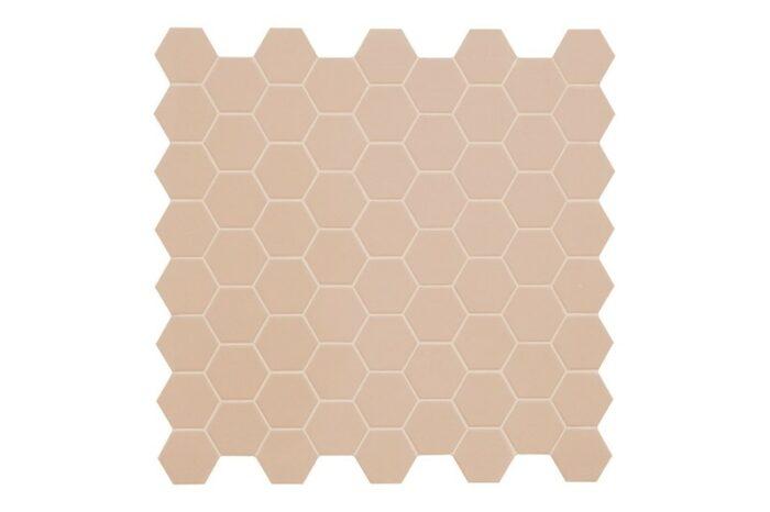 pink hexagon mosaic swatch