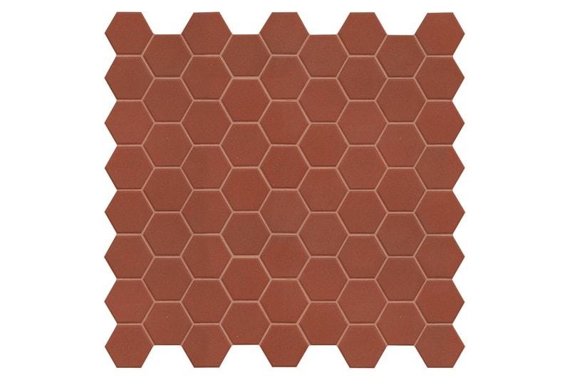 marron hexagon mosaic swatch