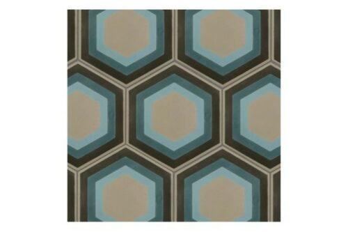 swatch of retro blue tiles